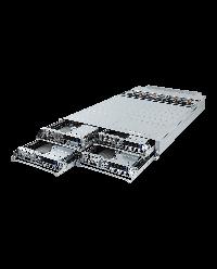 Gigabyte Server H281-PE0 2U 4Node 8x 2.5'' HDD bays 8x10Gb/s (X550-AT2) Total 12x PCIe +4x OCP