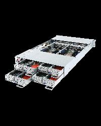 Gigabyte Server H261-H61 DP/node Xeon Scalable CPU 64 DIMM DDR4 2U 4 nodes 24x 2.5'' HDD 2200W redundant PSU 1xIPMI/node 1xCMC global IPMI 8x PCIe + 4x OCPPCI-E 6NH261H61MR-00