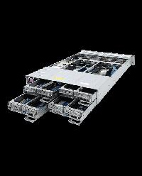 Gigabyte Server H261-Z61 DP/node EPYC CPU 64 (16x node) DIMM DDR4 2U 4 nodes 8x 2.5'' NVME + 16x 2.6'' HDD 2200W redundant PSU 2x1GbE/1xIPMI/node 2x16 1xOCPx16/nodePCI-E 6NH261Z60MR-00