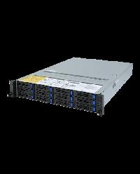 Giagabyte Server 2U UP ROME R272-Z30 12x 3.5'' HDD bay (8x from HBA + 4x on board)+ 2x2.5'' HDD bay 2x 800W 80+ Platinum