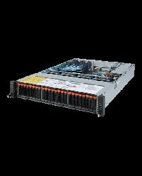 Giagabyte Server 2U UP ROME R272-Z32 24x2.5'' NVME HDD bay + 2x2.5'' HDD bay 2x 1200W 80+ Platinum