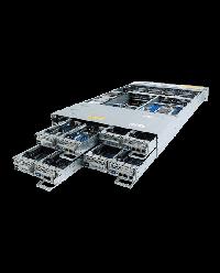 Gigabyte 2U 4Nodes Dual AMD EPYC 24 HDD 12x NVMe 12x SAS/SATA 8x 1Gb/s 6NH262Z66MR-00