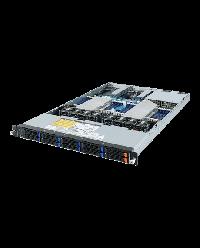 Giagabyte Server 1U DP ROME R182-Z91 10x2.5'' HDD bay (8x2.5'' SATA + 2x2.5'' NVME) SATA 6Gb / SAS 12Gb / U.2 2x 1200W 80+ Platinum