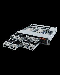 Gigabyte 2U 4Node H242-Z11 Single AMD EPYC 4 x 2.5'' NVMe 8 x M.2 8x Low profile PCIe x16 4x OCP 2.0 1200W RPSU 6NH242Z11MR-00