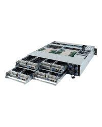 Gigabyte 2U 4Node H252-Z10  Single AMD EPYC 4 x 2.5'' NVMe  8 x M.2 8x LP PCIe x16, 4xOCP 1200W RPSU