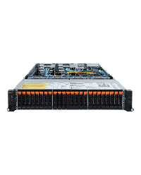 Giagabyte Server 2U DP ROME R282-Z92 24x2.5'' NVME HDD bay + 2x2.5'' HDD bay SATA 6Gb / SAS 12Gb / U.2 2x 1600W 80+ Platinum