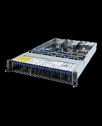 Giagabyte Server 2U DP ROME R282-Z91 24x2.5'' HDD bay + 2x2.5'' HDD bay (from HBA Expander) 2x 1600W 80+ Platinum