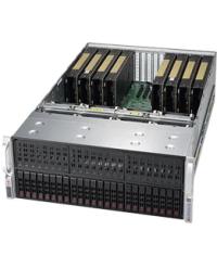 "Supermicro 4U GPU SYS-4029GP-TRT3 DP Scalable Processors 24 DIMM, up to 6TB DDR4 24x 2.5"" SAS3, 4x NVMe 11 PCI-E 3.0 x16  2x10GBase-T 2200W (Redundant, Titanium)"