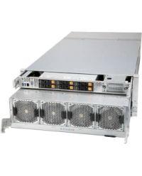 "Supermicro SuperServer 4124GO-NART+ 2xSocket SP3/node AMD EPYC™ 7003/7002 CPU 32 DIMM DDR4 4U 6x2,5"" HDD 4x3000W PSU 1xAIOM/1xIPMI 8xLP PCI-E 4.0 Hybrid backplane Complete System Only 8x GPU Nvidia HGX"