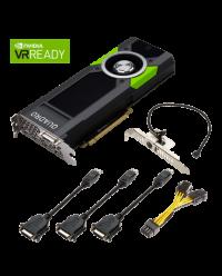 PNY Quadro P5000 16 GB GDDR5X 256-bit, SLI, HDCP 2.2, HEVC and HDMI 2.0b support VCQP5000-PB