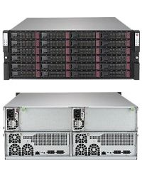 Supermicro 4U Storage SSG-947R-E2CJB Two hot-pluggable systems (nodes) in a 4U form factor 24 Hot-swap 3.5in