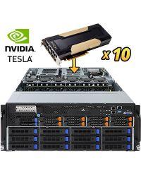Gigabyte Server G481-HA0 DP Xeon Scalable CPU 24 DIMM DDR4 4U 10x 2.5'' + 12x3.5'' HDD 3x 2200W PSU 2x1GbE/1xIPMI 10x PCIex16 (GPGPU) + 1xOCP + 1xPCIex8PCI-E 6NG481HA0MR-00