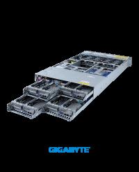 Gigabyte 2U 4 Nodes H262-PC0 Dual Socket P+ 16 x DIMM slots 2 x 10GbE BASE-T 2200W