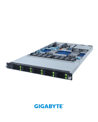 "Gigabyte 1U R182-NA0 Dual Socket P+ 10 x 2.5"" SATA/SAS/Gen4 NVMe 2 x PCIe Gen4 x16 2x OCP 1300W"