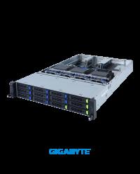 Gigabyte 2U 3xGPU R282-G30 Dual Socket P+ 32 x DIMMs 12x 3.5'' 2 x 2.5''5 x PCIe Gen4 x16 Onboard 12Gb/s SAS expander  2 x OCP 2400W