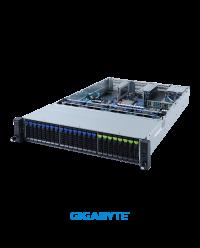 "Gigabyte 2U R282-N80 Dual Socket P+ 16 x 2.5"" SATA/SAS 8 x 2.5"" SATA/SAS/Gen4 NVMe 2 x 2.5"" SATA/SAS Onboard 12Gb/s SAS expander 8 x PCIe Gen4 x16 2x OCP 1600W"