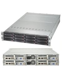 Supermicro 2U 4Nodes 6029TP-HC0R 4x DP Scalable Processors 4x 16 DIMM, DDR4 4x (3x 3.5'' SAS3) 1 SIOM Broadcom 3008 2000W (Titanium, Redundant)