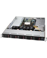 Supermicro 1U Superserver SYS-110P-WTR Single Socket P+ 8 DIMMs 3x PCI-E 4.0 x16 10x hot-swap 2.5'' 1x NVMe/SATA M.2 750W RPSU