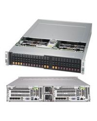 Supermicro 2U 4Nodes 2029BT-HNTR 4x DP Scalable Processors 4x 24 DIMM, DDR4 4x (4 NVMe + 2 SATA3 2.5'') 1 SIOM 2200W (Redundant, Titanium)