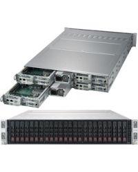 Supermicro 2U 4Nodes 2029TP-HC1R 4x DP Scalable Processors 4x 16 DIMM, DDR4 4x (6x 2.5'' SAS3) 1 SIOM Broadcom 3108 2000W (Titanium, Redundant)