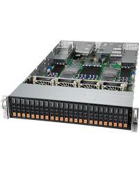 "Supermicro MP SuperServer SYS-240P-TNRT Quad Socket P+ 48 DIMMs 2.5"" NVMe/SAS3/SATA3 2xM.2 SATA 2x 10G RJ45 + 2x 10G SFP+ 2000W RPSU"