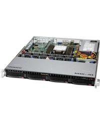 Supermicro 1U SuperServer SYS-510P-M Single Socket P+ 8 DIMMs 1 PCI-E 4.0 x16 4x 3.5'' NVMe hybrid 500W Multi-output