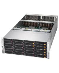 """Supermicro 4U GPU SYS-6049GP-TRT DP Scalable Processors 24 DIMM, up to 6TB DDR4 22x 3.5'' 2xU.2 NVMe 2.5"""" drives 20x GPU 2x10GbT 2000W (Redundant, Titanium)"""
