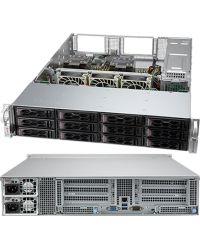 Supermicro 2U CloudDC SYS-620C-TN12R Dual sockets P+ 16 DIMMs 12x 3.5''/2.5'' NVMe/SATA/SAS 1200W