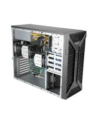 """Supermicro SuperServer SYS-730A-I 2x Socket P+ (LGA-4189) 3rd Gen Intel® Xeon® Scalable CPU 16 DIMM DDR4 Midi tower 2x5,25"""" 4x3,5"""" HDD 1x1200W PSU 2x1G Shared IPMI 6xFHFL PCI-E 4.0 2xGPU Workstation"""