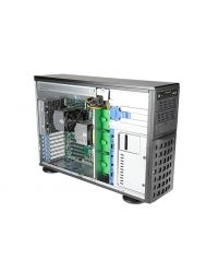 """Supermicro SuperServer SYS-740A-T 2x Socket P+ (LGA-4189) 3rd Gen Intel® Xeon® Scalable CPU 16 DIMM DDR4 Tower/4U 3x5,25"""" 8x3,5"""" HDD 2x1230W PSU 2x10G RJ45 Shared IPMI 6xFHFL PCI-E 4.0 2xGPU Workstation"""