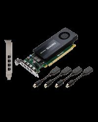NVIDIA PNY Quadro K1200 4GB GDDR5 PCIe 2.0 - LP & FH Bracket, Active, DP GPU-NVQK1200