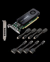 NVIDIA PNY Quadro K1200 4GB GDDR5 PCIe 2.0 - LP & FH Bracket, Active, DVI GPU-NVQK1200D