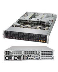 Supermicro 2U 2049U-TR4 Quad Scalable Processors 48 DIMM, up to 6TB DDR4 24x 2.5'' (20 SAS3/SATA3 + 4 NVMe) 4x GbE 1600W (Redundant, Titanium)
