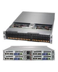 Supermicro 2U 4Nodes 2029BT-HNR 4x DP Scalable Processors 4x 24 DIMM, DDR4 4x (6x 2.5'' NVMe) 1 SIOM 2200W (Redundant, Titanium)