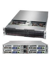 Supermicro 2U 4Nodes 2029BT-HTR 4x DP Scalable Processors 4x 24 DIMM, DDR4 4x (6x 2.5'' SATA3) 1 SIOM 2200W (Redundant, Titanium)