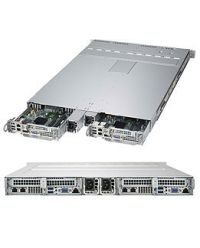 Supermicro 1U 2 Node 1029TP-DTR 2 x DP Scalable Processors 16 DIMM, up to 2TB DDR4 (each node) 4x 2.5'' SATA3 (each node) SIOM for flexible networking 1000W (Redundant, Titanium)