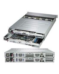Supermicro 2U SBB 2029P-DN2R24L 2x UP Scalable Processors 2x 12 DIMM, DDR4 24 U.2 dual-port NVMe 2 node SBB system 2000W (Titanium, Redundant)