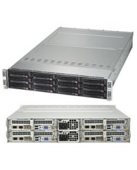 Supermicro 2U 4Nodes 6029TP-HC1R 4x DP Scalable Processors 4x 16 DIMM, DDR4 4x (3x 3.5'' SAS3) 1 SIOM Broadcom 3108 2000W (Titanium, Redundant)