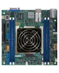 MB Supermicro X11SDV-8C+-TLN2F D-2141I, 8-Cores, 65W Xeon D (SoC) 4 DIMM up to 256GB DDR4 Up to 8 SATA3, RAID 0, 1, 5, 10 (U.2 option) 2 10GBase-T Mini-ITX