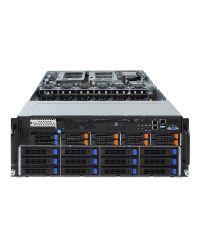 Gigabyte Server G481-HA1 DP Xeon Scalable CPU 24 DIMM DDR4 4U 10x 2.5'' + 12x3.5'' HDD 3x 2200W PSU 2x1GbE/1xIPMI 10x PCIex16 (GPGPU) + 1xOCP + 1xPCIex8PCI-E 6NG481HA1MR-00