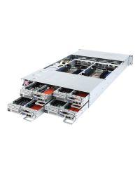 Gigabyte Server H261-3C0 DP/node Xeon Scalable CPU 64 DIMM DDR4 2U 4 nodes 3x 3.5''/node HDD 2200W redundant PSU 2x10GbE/1xIPMI/node 1xCMC global IPMI 8x PCIe + 4x OCPPCI-E 6NH2613C0MR-00