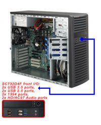 Supermicro SuperChassis CSE-732D4F-903B Mini-Tower Fixed 4x 3.5'' 2x 5.25'' drive bay 900W PSU 9.6'' x 9.6'' 7x FF PCI-E 21dB Whisper-Quiet