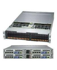 Supermicro 2U 4Nodes 2029BZ-HNR 4x DP Scalable Processors 4x 24 DIMM, DDR4 4x (6x 2.5'' NVMe) 1 SIOM, N+1 Cooling 2600W (Redundant, Titanium)