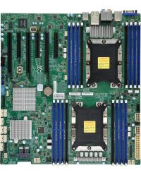 MB Supermicro X11DAC DP Xeon® Scalable Processors (LGA 3647) 16 DIMM slots 2TB DDR4-3200 (OC) 8 SAS3 Broadcom 3008, Audio, Workstation E-ATX