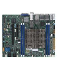 MB Supermicro X11SDV-12C-TP8F D-2166NT, 12-Cores, 85W Xeon D (SoC) 4 DIMM up to 256GB DDR4 Up to 12 SATA3, RAID 0, 1, 5, 10 4 GbE, 2 10GBase-T, 2 10G SFP+ Flex ATX
